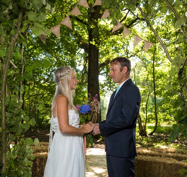 Woodland wedding ceremonies and receptions in Kent
