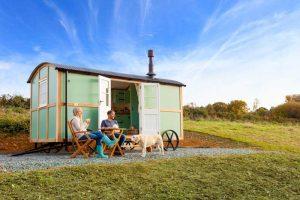 Shepherds hut in Kent
