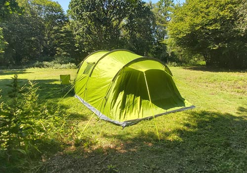 Secluded camping BYO tent on Kent arable farm near Canterbury, Folkestone and Ashford
