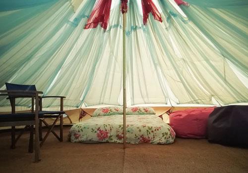Bell and Touareg tent glamping Canterbury Kent