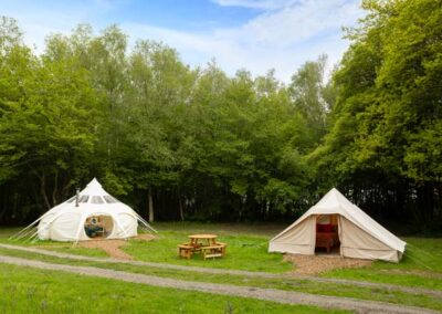Lotus Belle Stargazer tent and Touareg tent glamping near Eurotunnel, Canterbury and Dover in Kent