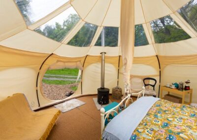 Lotus Belle Stargazer tent glamping luxury near Eurotunnel, Canterbury and Dover in Kent
