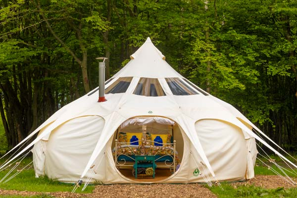 Lotus Belle Stargazer tent glamping near Eurotunnel, Canterbury and Dover in Kent