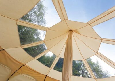 Lotus Belle Stargazer tent glamping watch the sky and stars near Eurotunnel, Canterbury and Dover in Kent