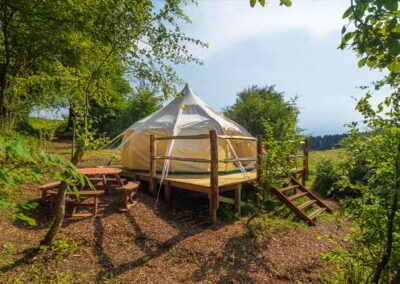 Valley Lotus Belle Stargazer tent glamping near Elham, Canterbury, Folkestone and Dover in Kent